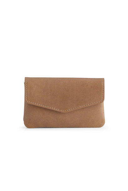 Faith Coin Purse Antique - Caramel