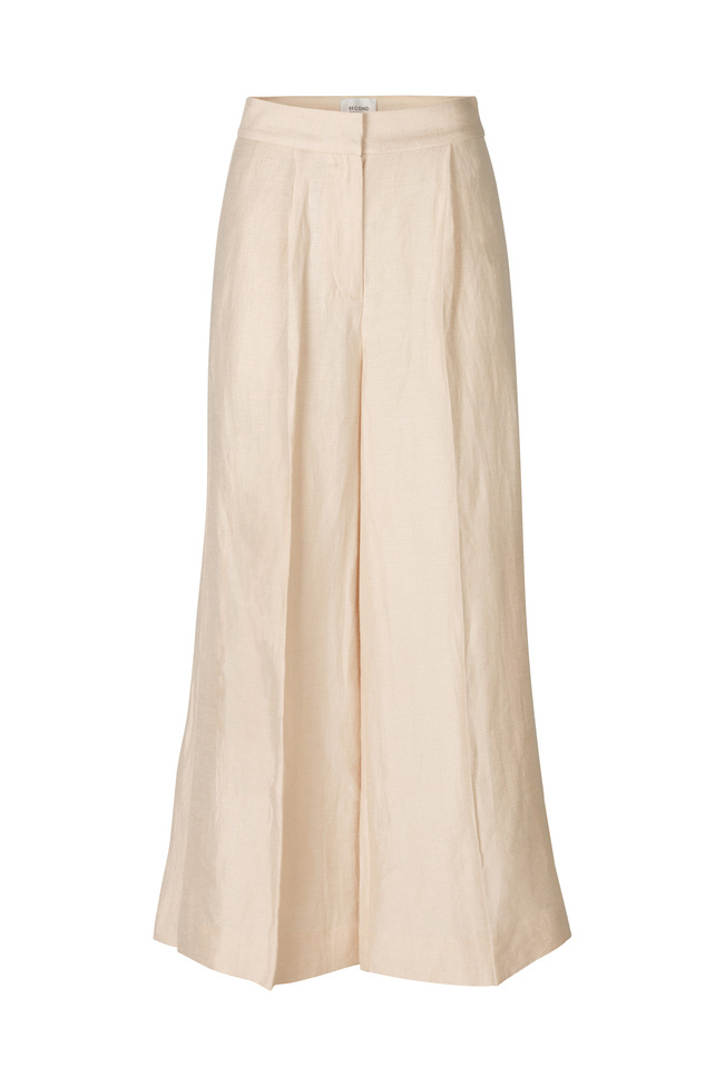 Lia Trouser - Cream Tan-1