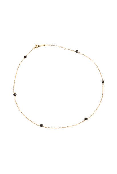 Energy Muse Necklace - Gold with Black Onyx