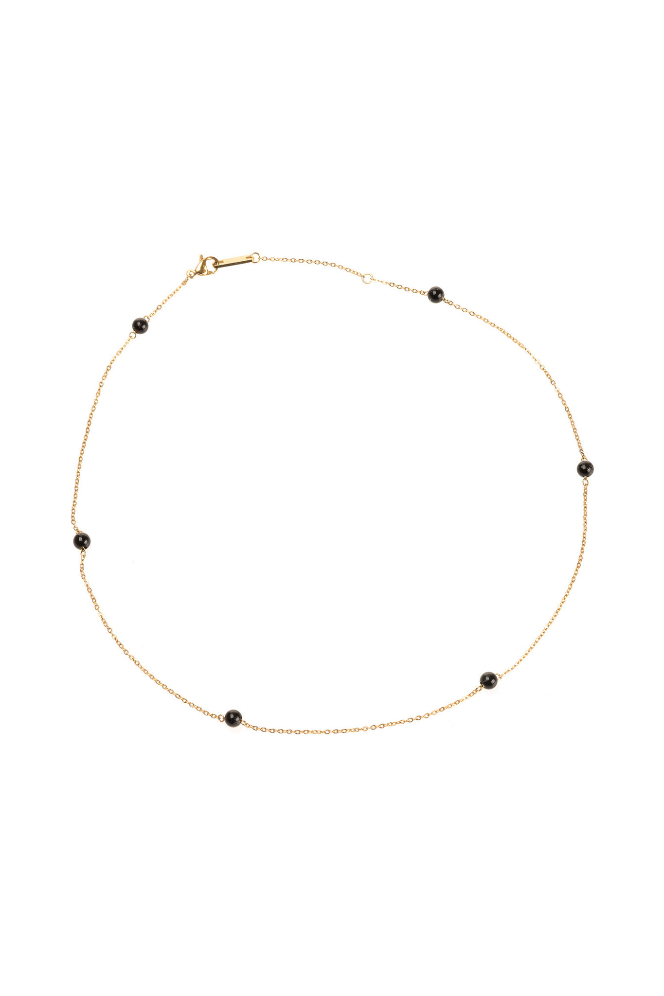 Energy Muse Necklace - Gold with Black Onyx-1