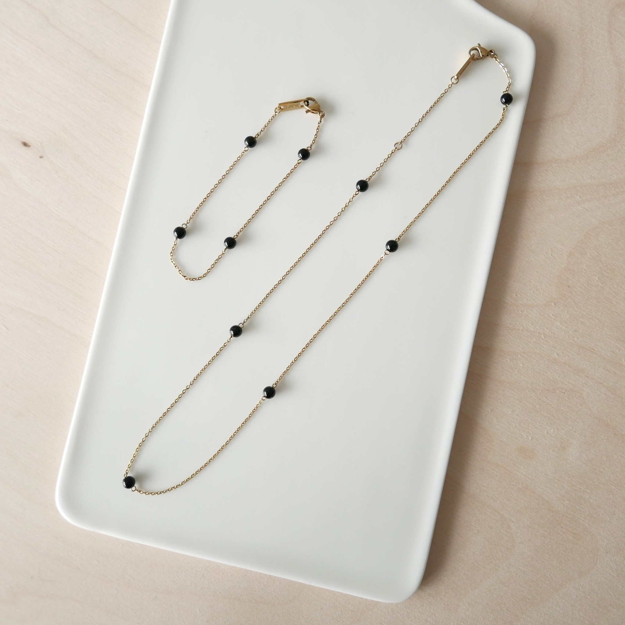 Energy Muse Necklace - Gold with Black Onyx-3