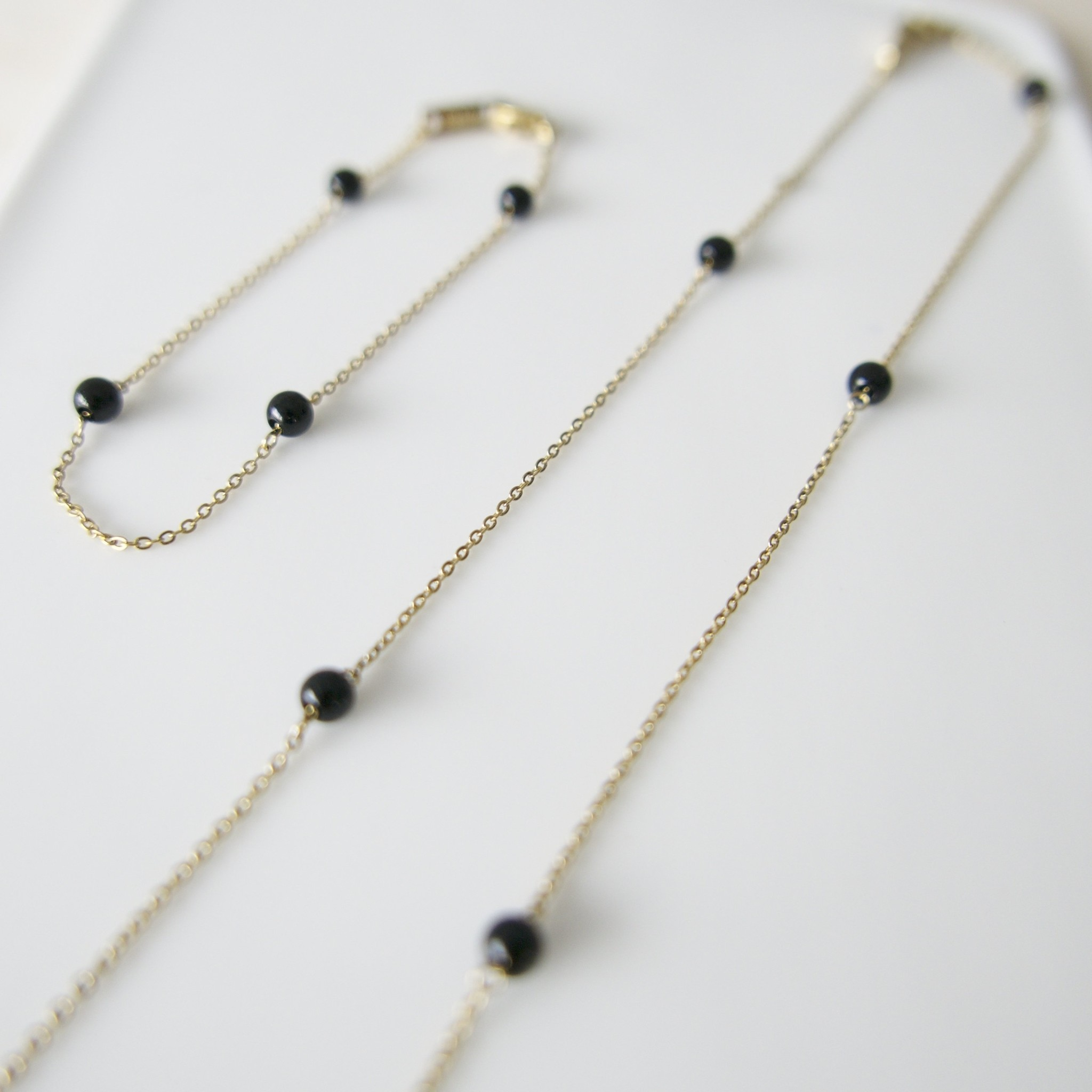 Energy Muse Necklace - Gold with Black Onyx-4