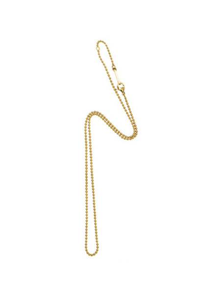 Small Ball Chain Necklace - Gold