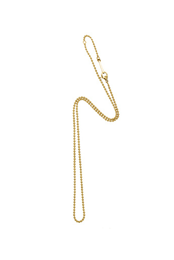 Small Ball Chain Necklace - Gold-1