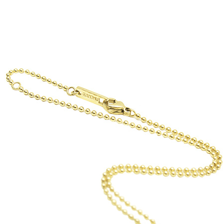 Small Ball Chain Necklace - Gold-2