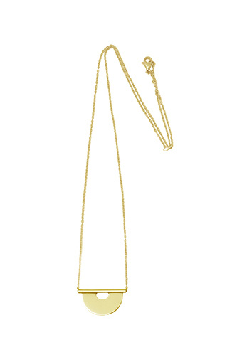 Round Tube Necklace - Gold-1