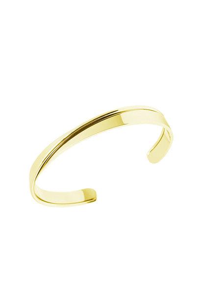 Curved Bracelet - Gold