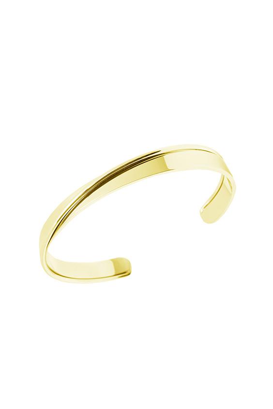 Curved Bracelet - Gold-1