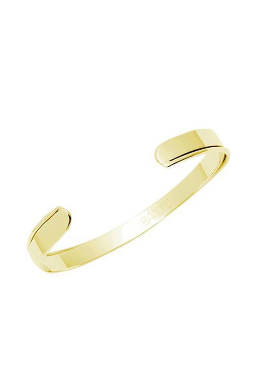Curved Bracelet - Gold-4