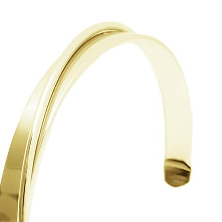 Curved Bracelet - Gold-5