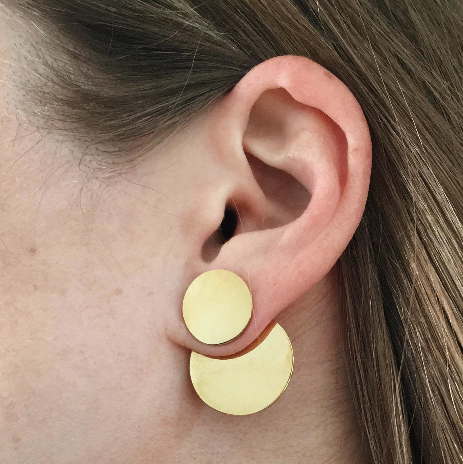 Dual Earrings - Gold-4