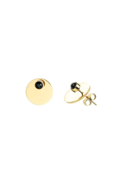 Energy Muse Double Earrings - Gold with Black Onyx