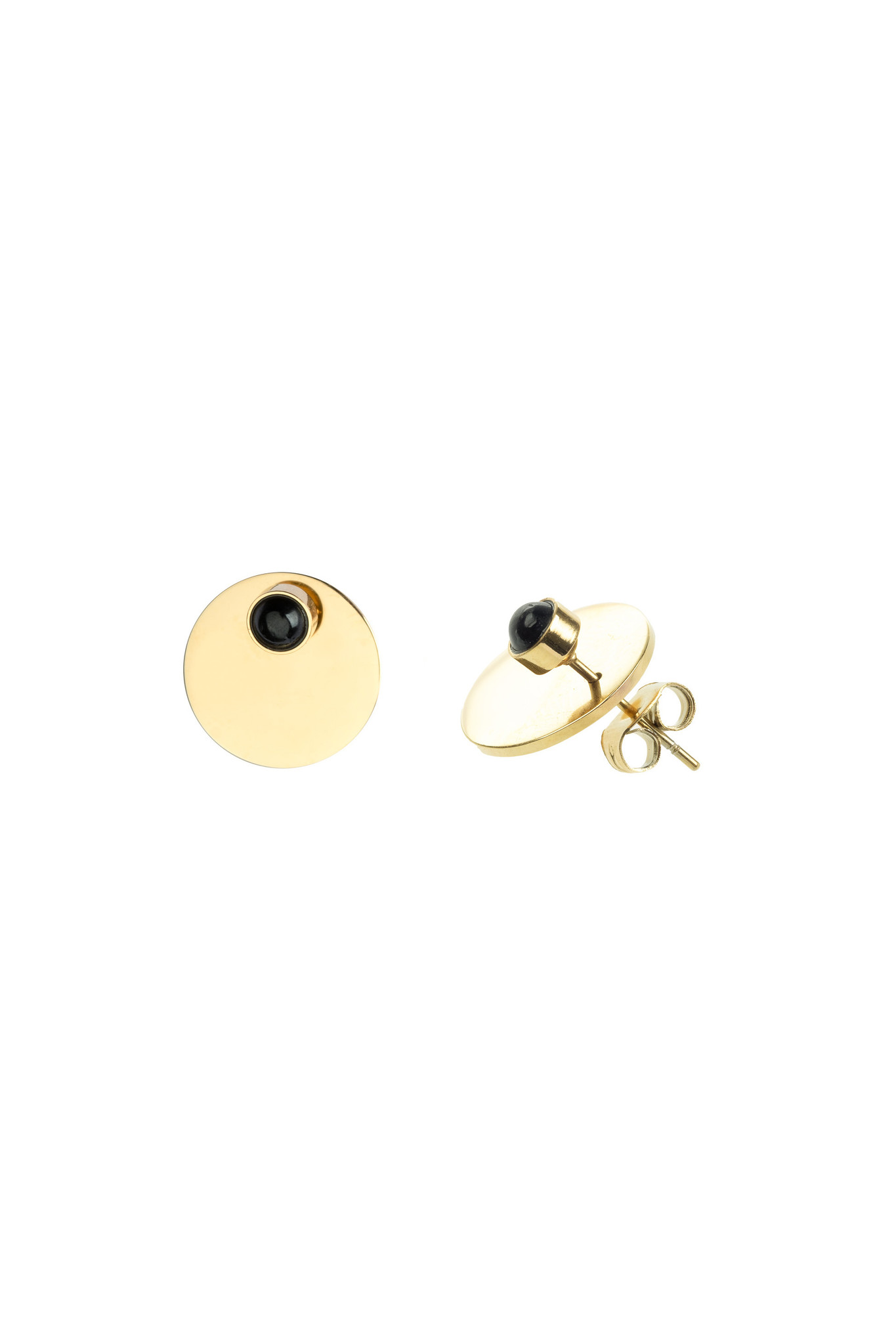 Energy Muse Double Earrings - Gold with Black Onyx-1