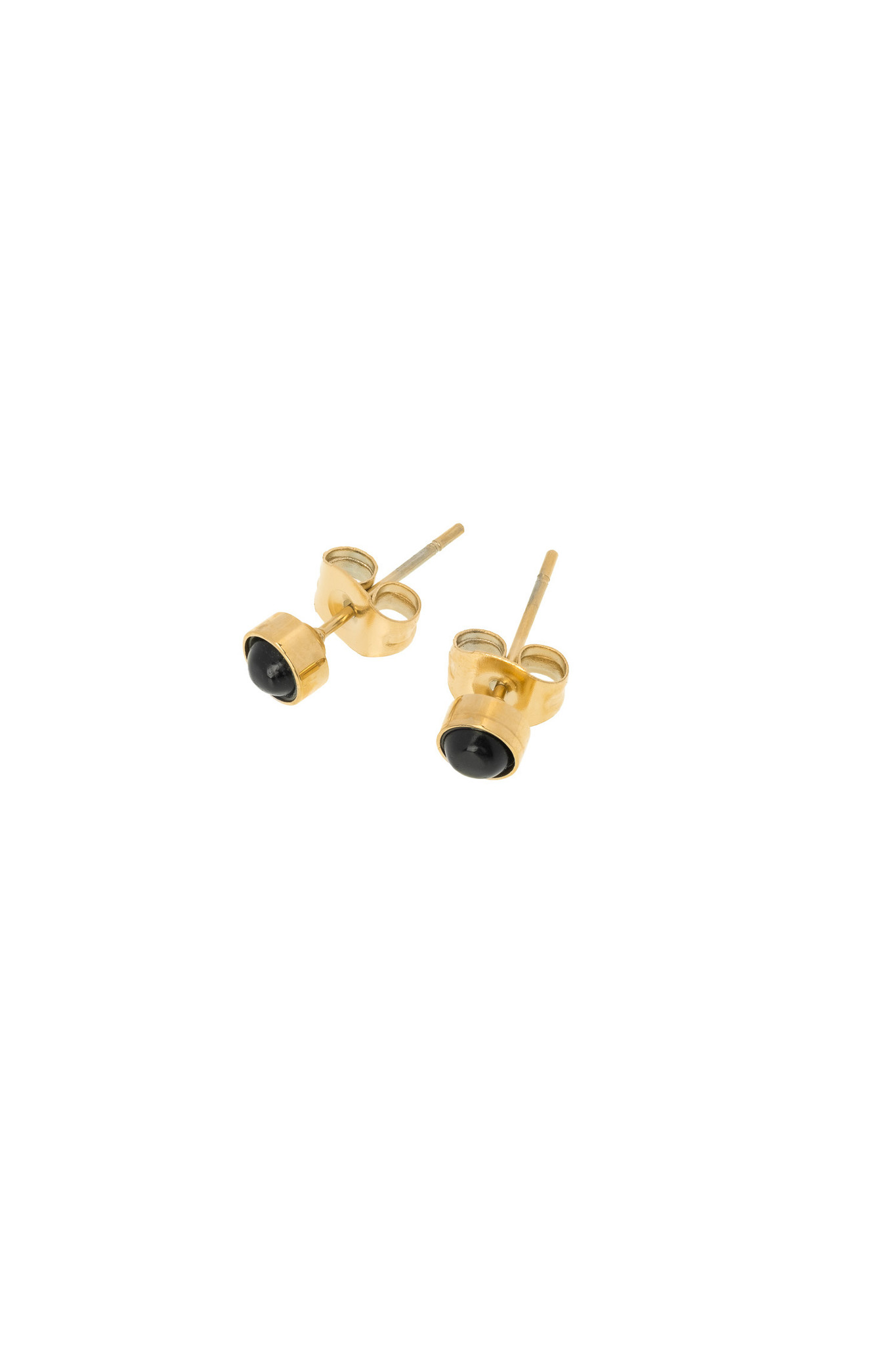 Energy Muse Earrings - Gold with Black Onyx-1