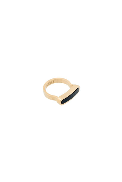 Energy Muse Ring - Gold with Black Onyx