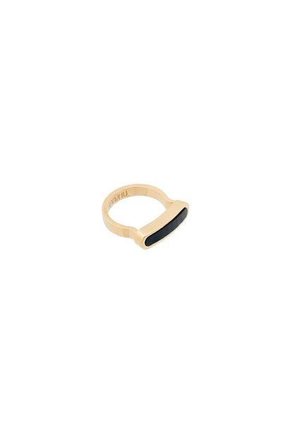 Energy Muse Ring - Goud met Zwarte Onyx