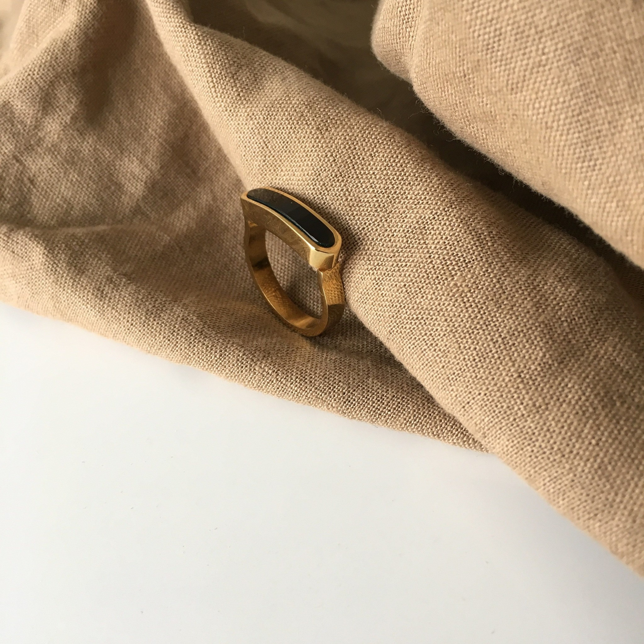 Energy Muse Ring - Gold with Black Onyx-3