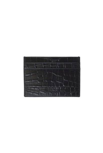 Cardholder Fine Croco - Black