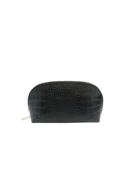 Toiletbag Croco - Black