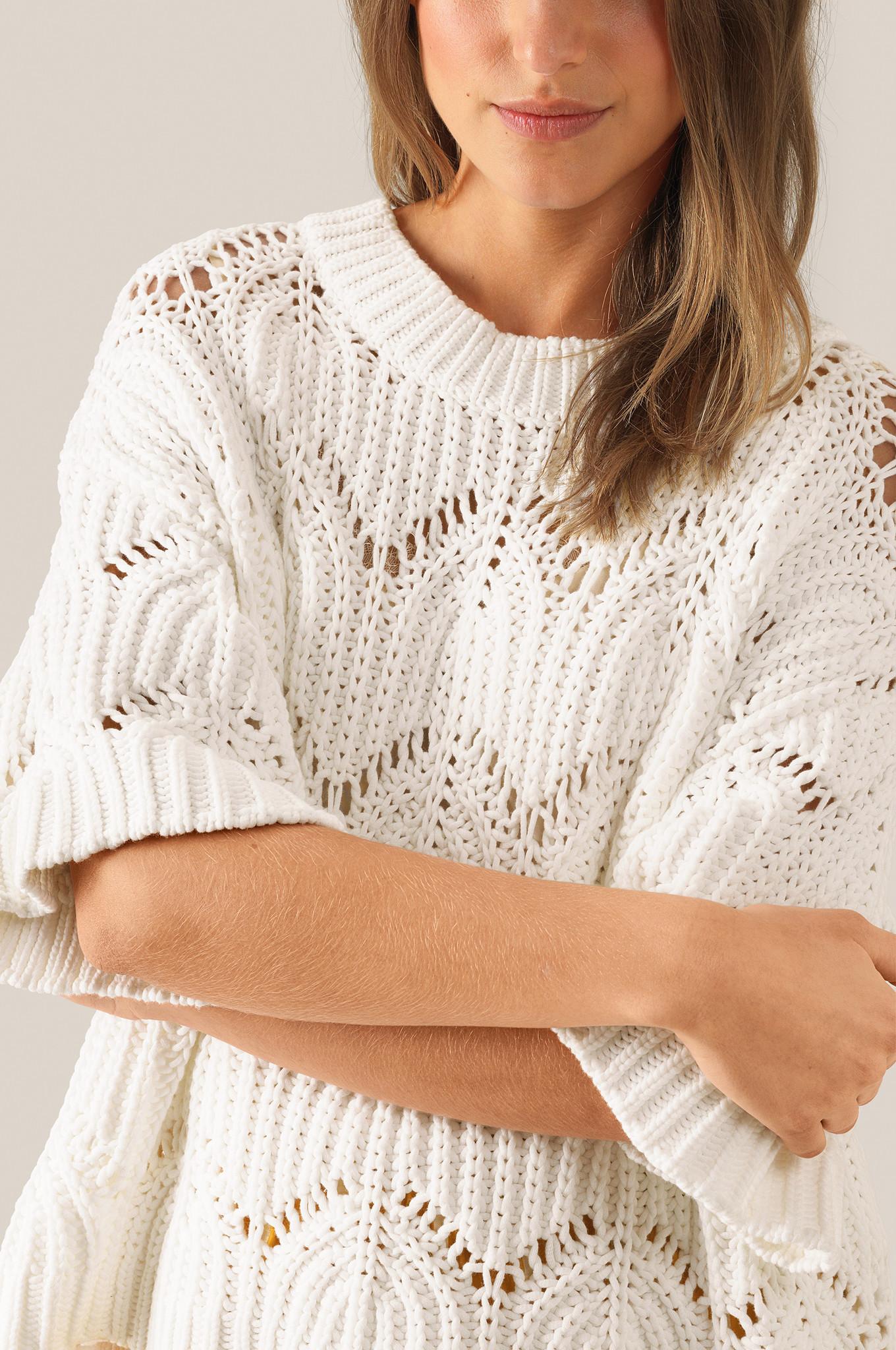 Tamma Knit O-Neck - White Alyssum-3