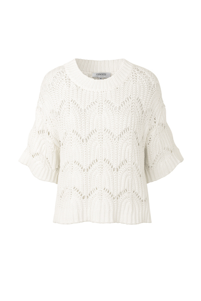 Tamma Knit O-Neck - White Alyssum-1