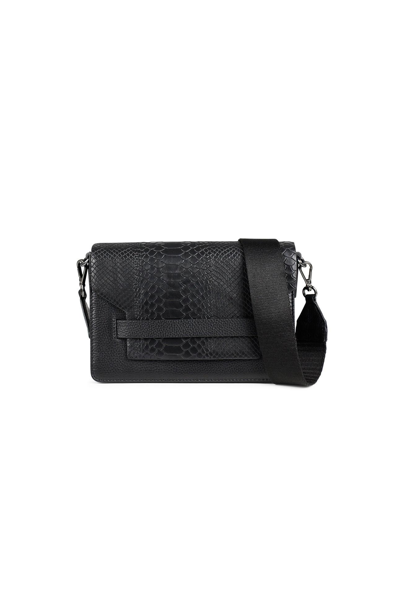 Arabella Crossbody Bag Snake - Black w/ Black-4