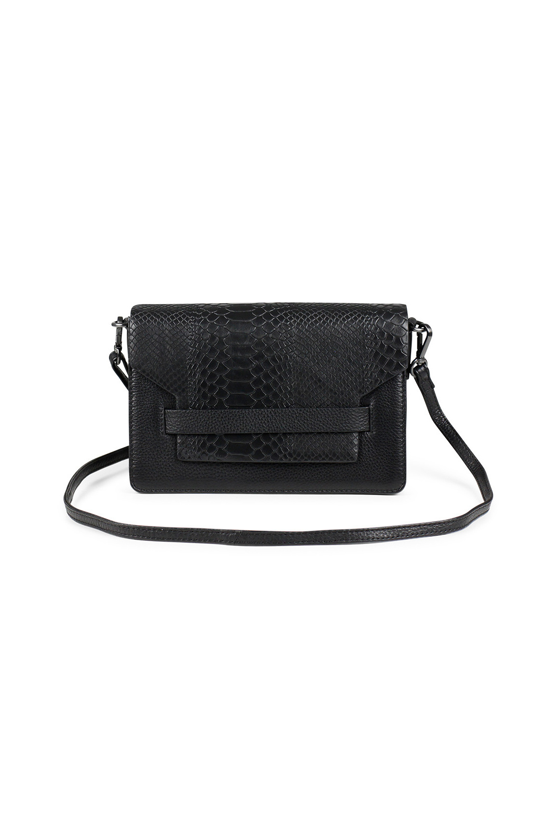 Arabella Crossbody Bag Snake - Black w/ Black-1