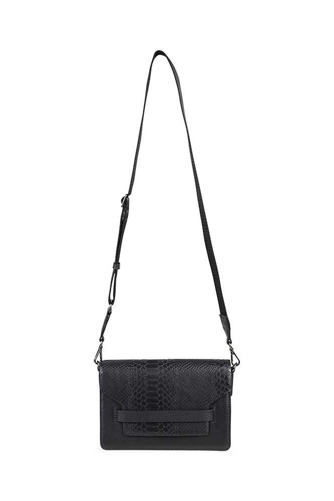 Arabella Crossbody Bag Snake - Black w/ Black-7