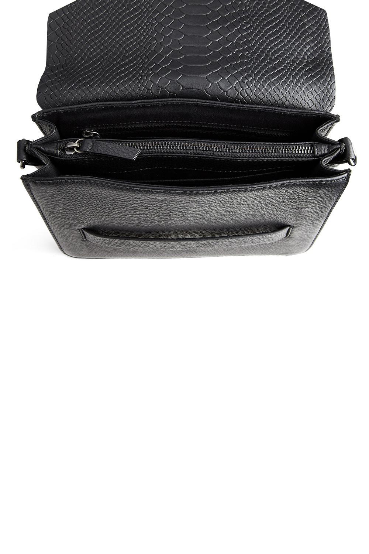 Arabella Crossbody Bag Snake - Black w/ Black-10