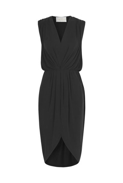 Dallas Drape Dress - Black