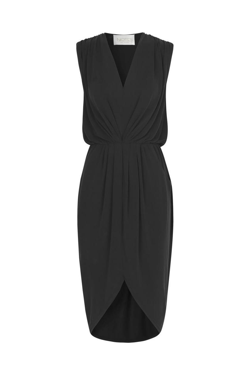 Dallas Drape Dress - Black-1