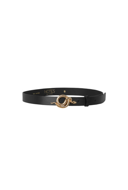 Paxton Leather Belt - Black / Gold