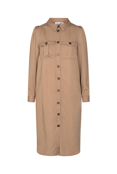 Uni Shirt Dress - Khaki