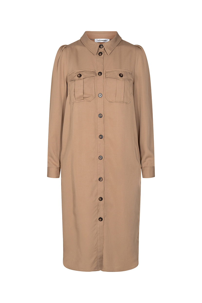 Uni Shirt Dress - Khaki-1