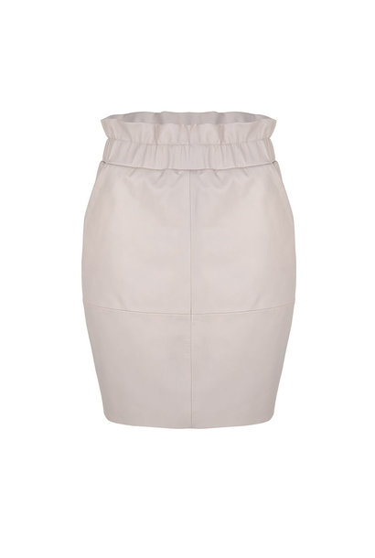 Adyn Leather Skirt - Ivory