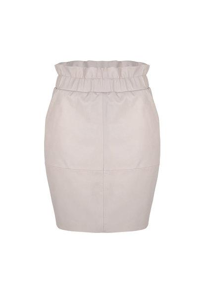 Adyn Leather Skirt - Ivory