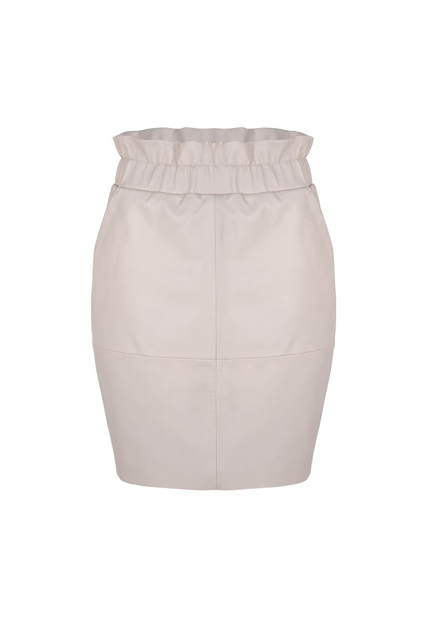 Adyn Leather Skirt - Ivory-1