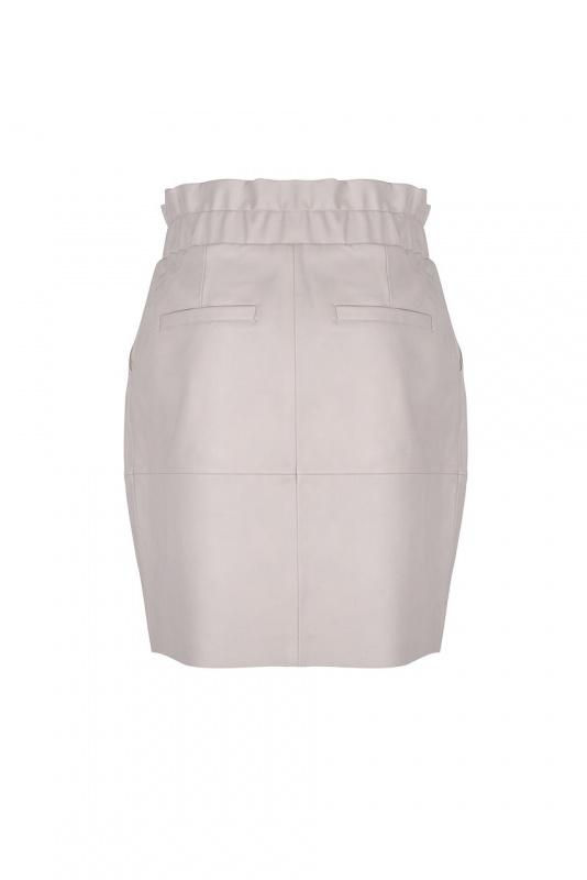 Adyn Leather Skirt - Ivory-3