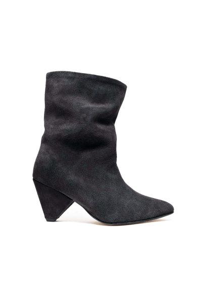 Vully 75 Triangle Calf Suede Boot - Dark Grey 38