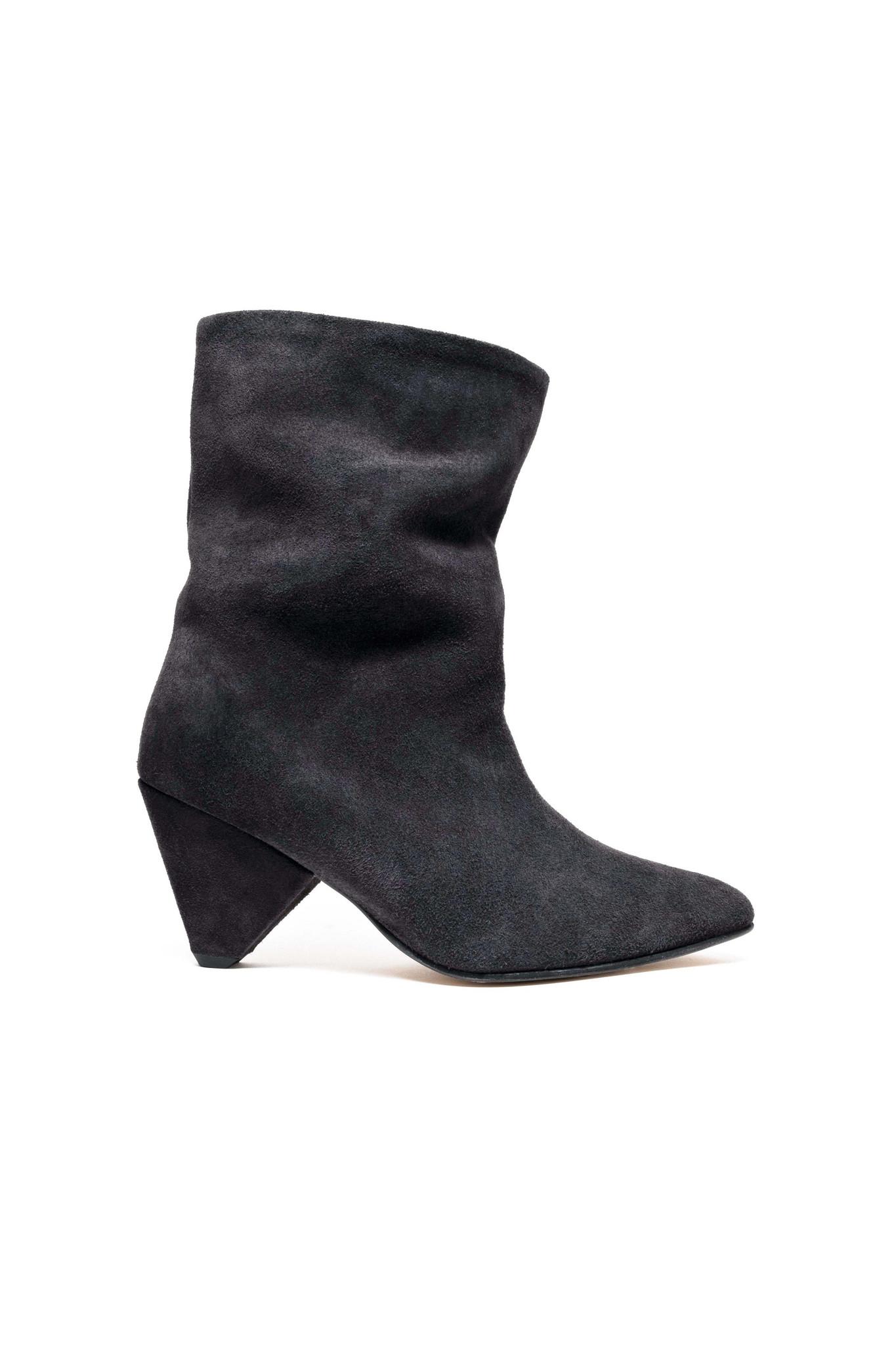 Vully 75 Triangle Calf Suede Boot - Dark Grey 38-1