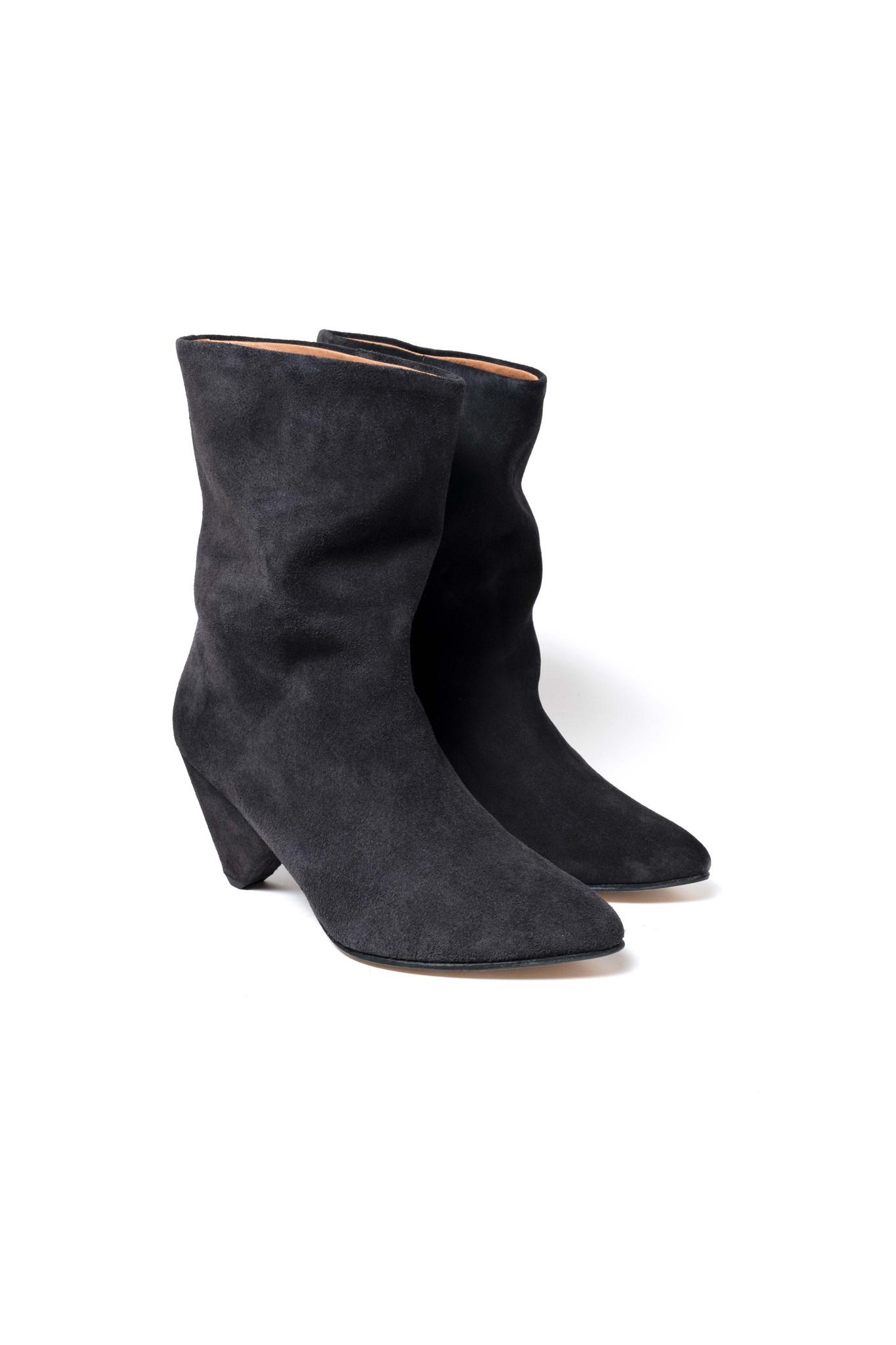 Vully 75 Triangle Calf Suede Boot - Dark Grey 38-3