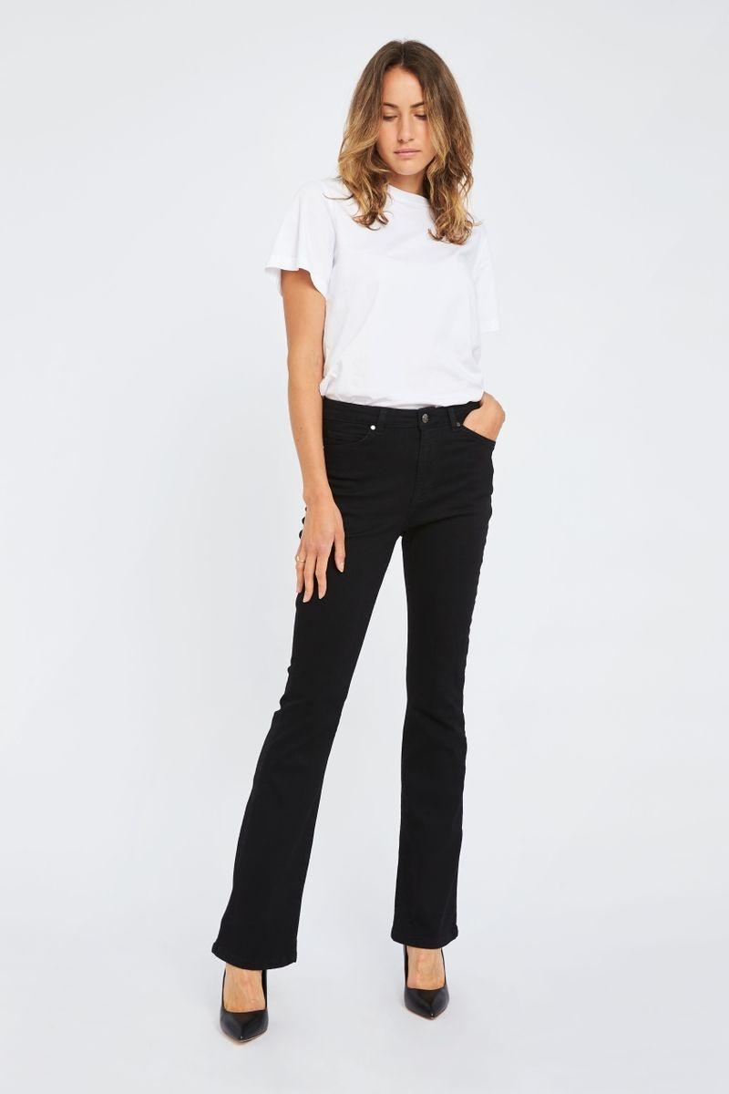 Naomi Flare Jeans - Zwart-4