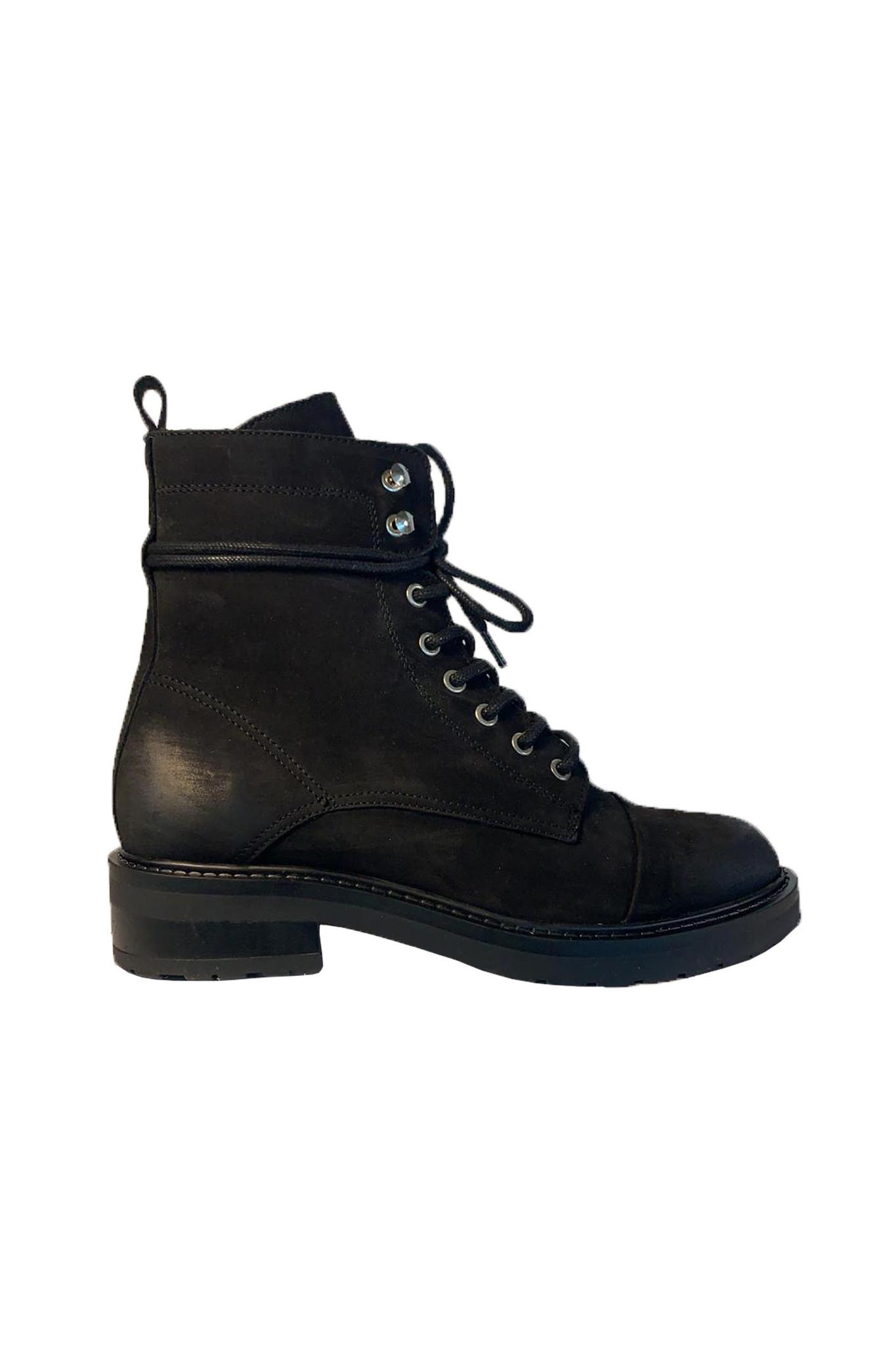 Charley Eco Boot - Black Nubuck-1