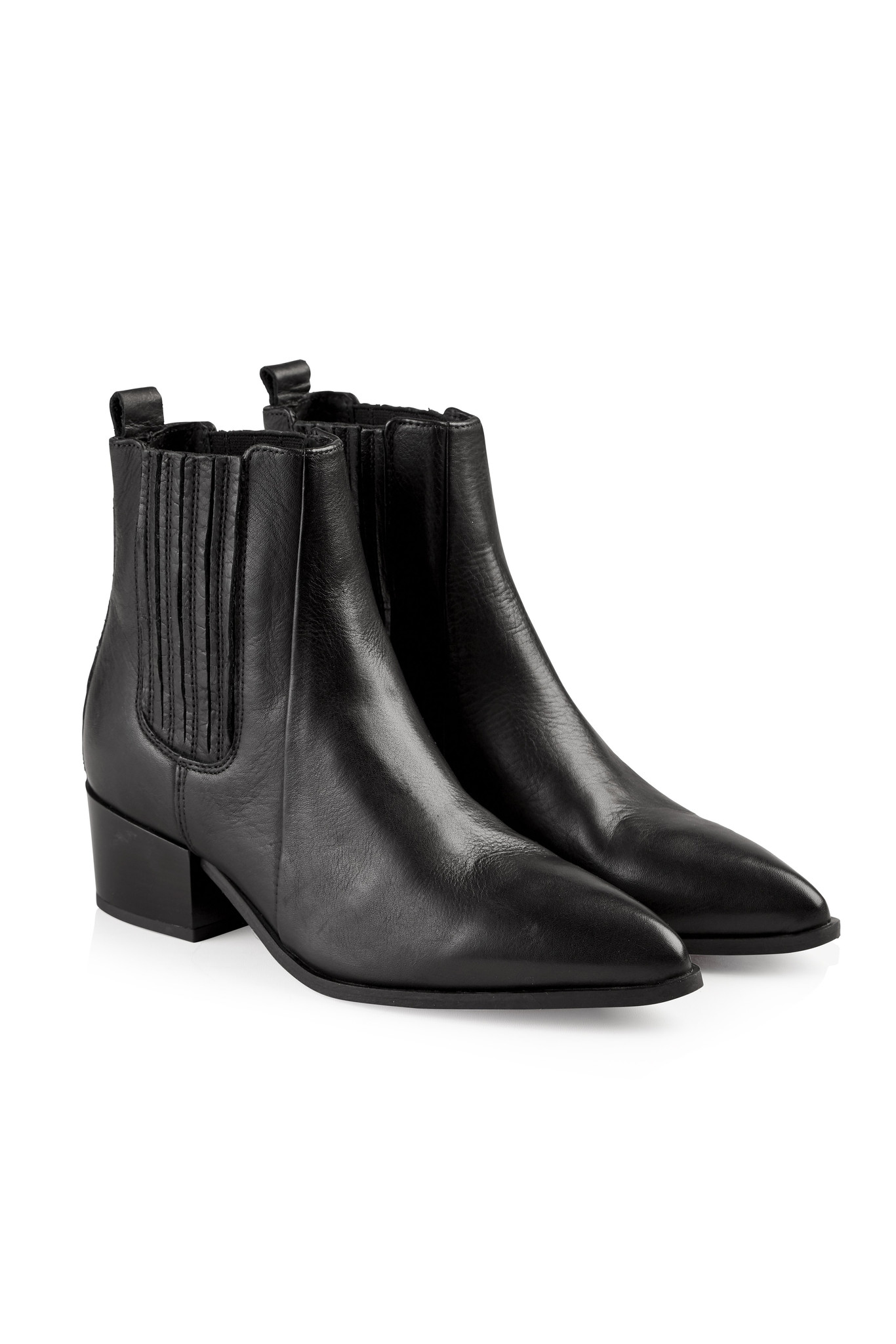 Sage Leather Boot - Black-2