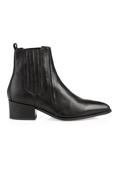 Sage Leather Boot - Black