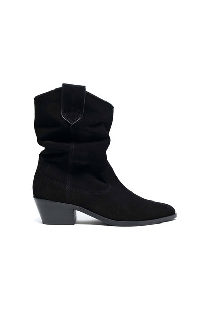 Saseline 35 Calf Suede Boot - Black