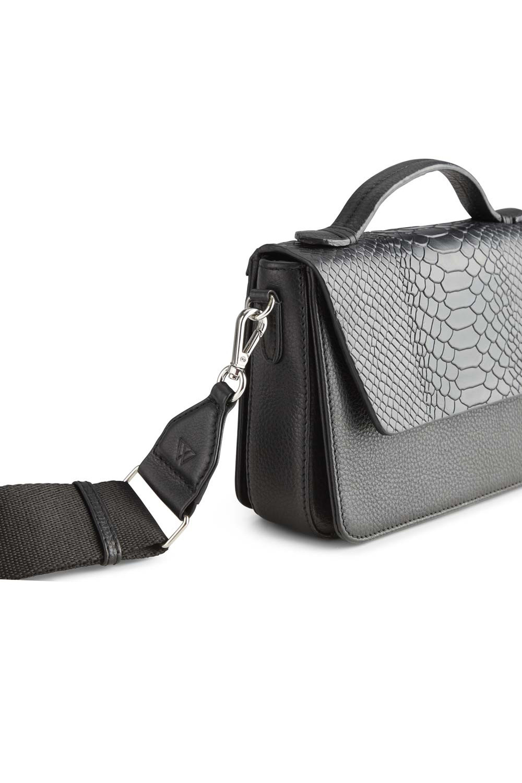 Kamaya Crossbody Bag Snake - Black w/ Black-5