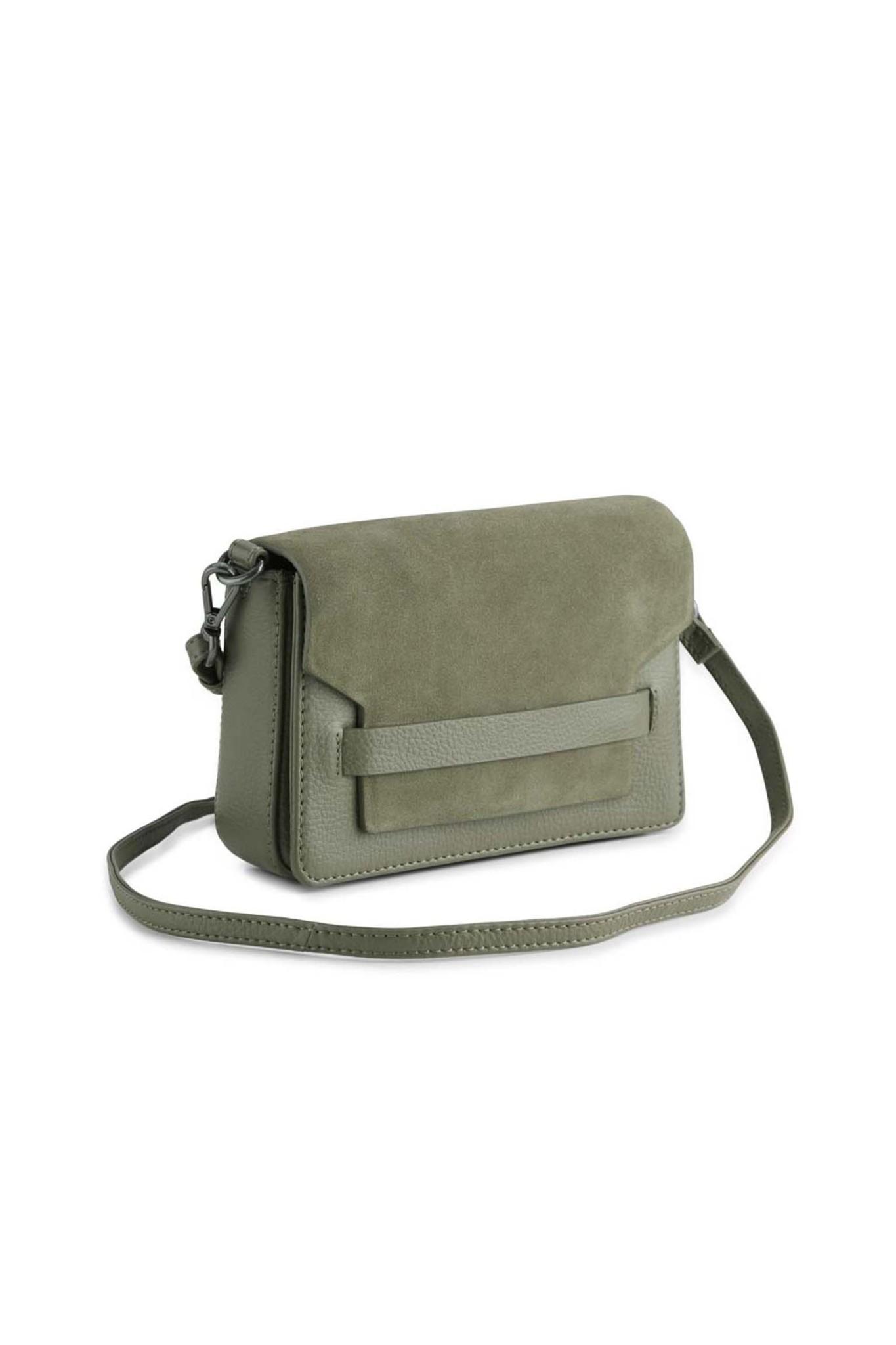 Vanya Crossbody Bag Suede - Olive-2