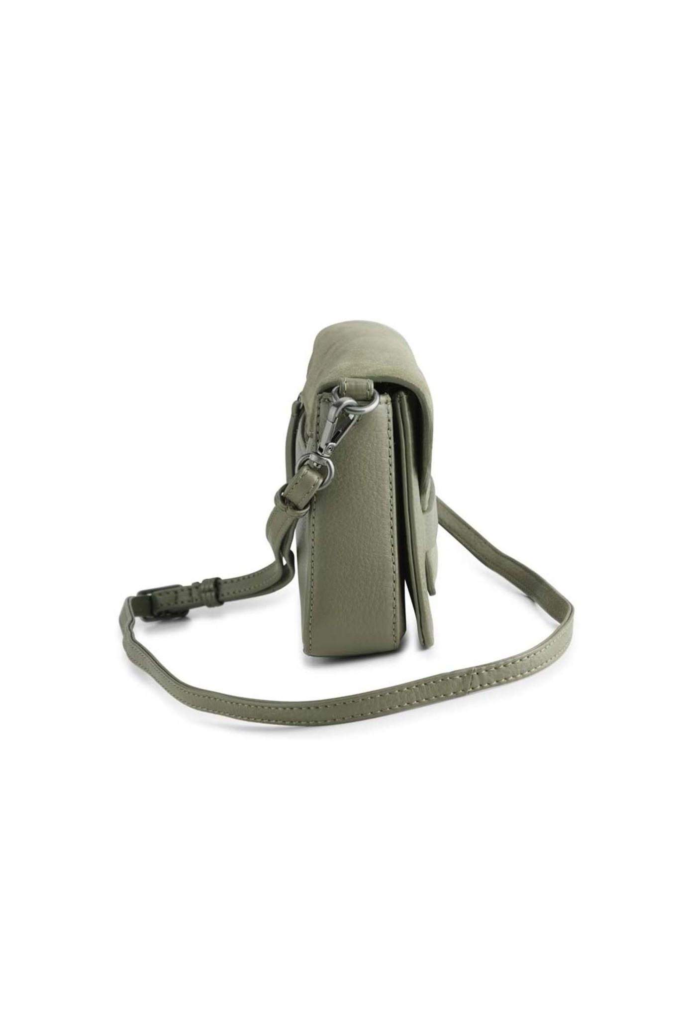 Vanya Crossbody Bag Suede - Olive-3