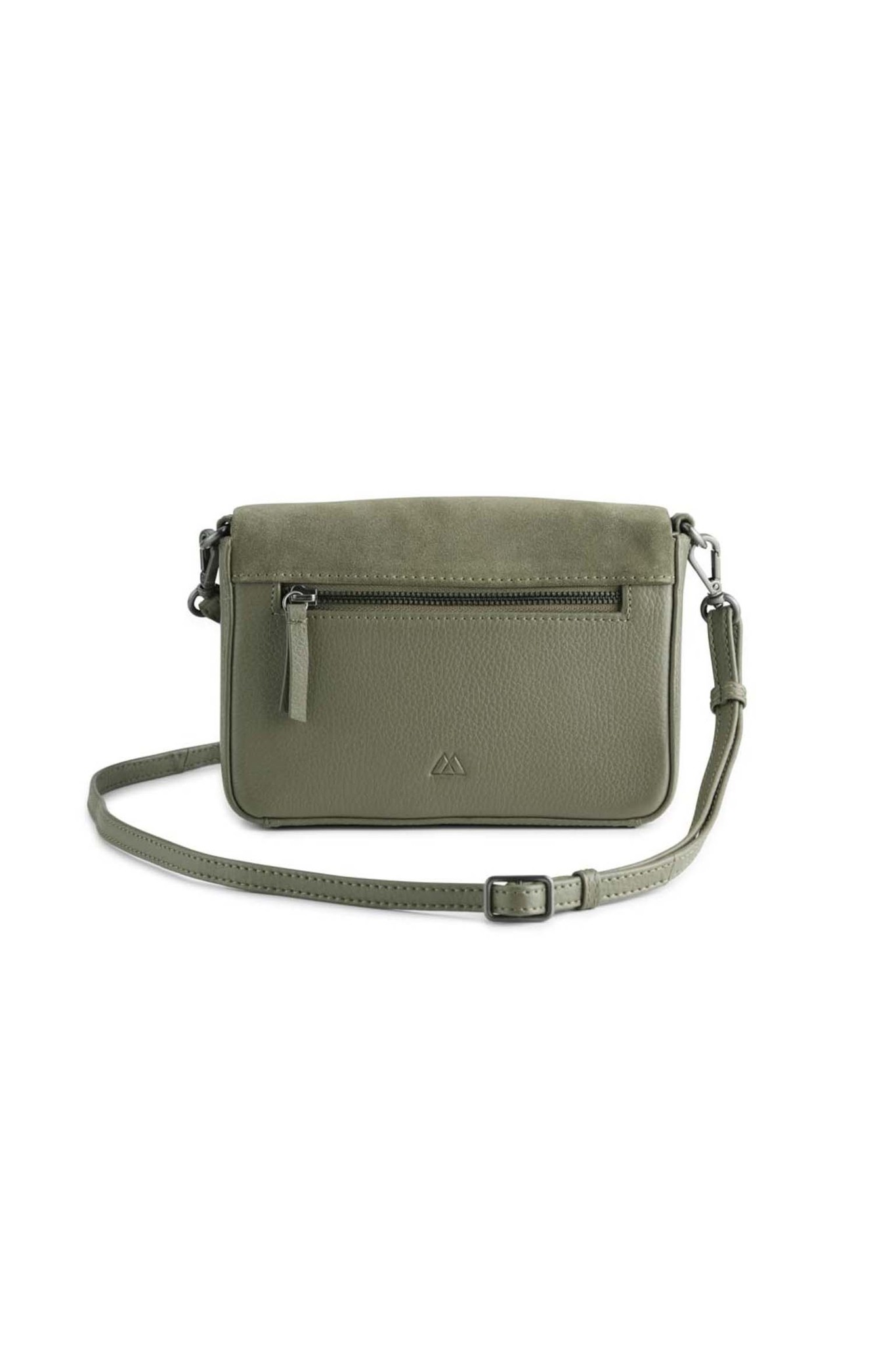 Vanya Crossbody Bag Suede - Olive-4